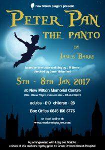 peter pan the panto by james barry new milton memorial