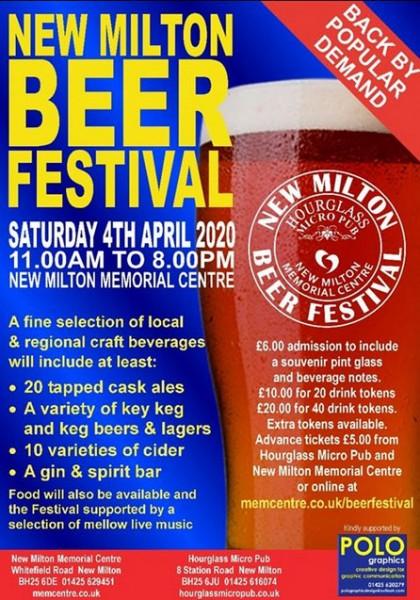 Poster of New Milton Beer Festival